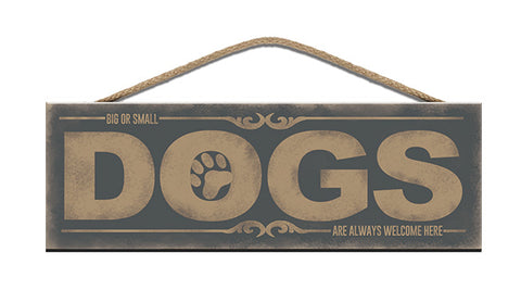 Wooden Sign - Dogs