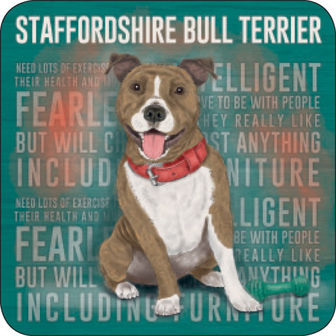 Melamine Coaster - Staffy