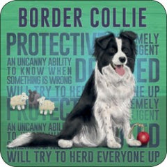 Melamine Coaster - Border Collie