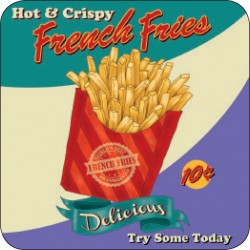 Melamine Coaster - French Fries