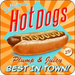 Melamine Coaster - Hot Dogs