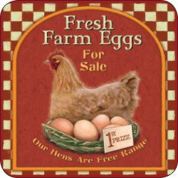 Melamine Coaster - Fresh Farm Eggs
