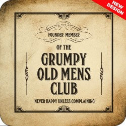 Melamine Coaster - Grumpy Old Mens Club