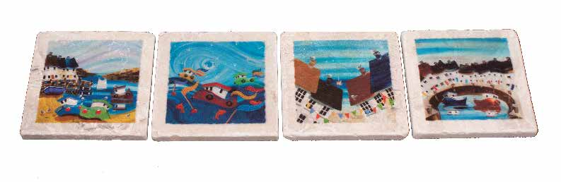 Marble Coaster - Boats - Nikky Corker