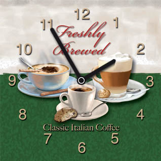 Clock - Classic Italian Coffee