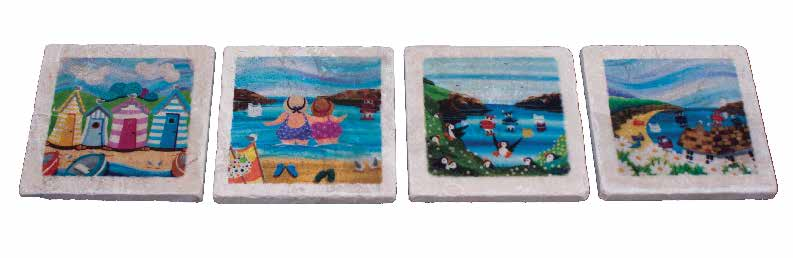 Marble Coaster - Beach Scenes - Nikky Corker