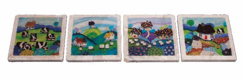Marble Coaster - Cows And Sheep - Nikky Corker