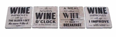 Marble Coaster - Wine Sayings