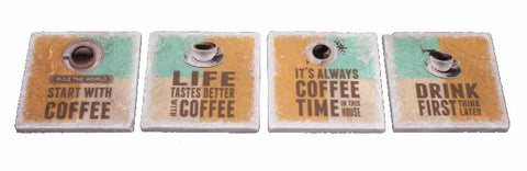 Marble Coaster - Coffee Rules