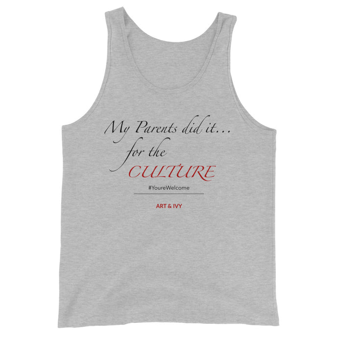For the Culture tank | Red