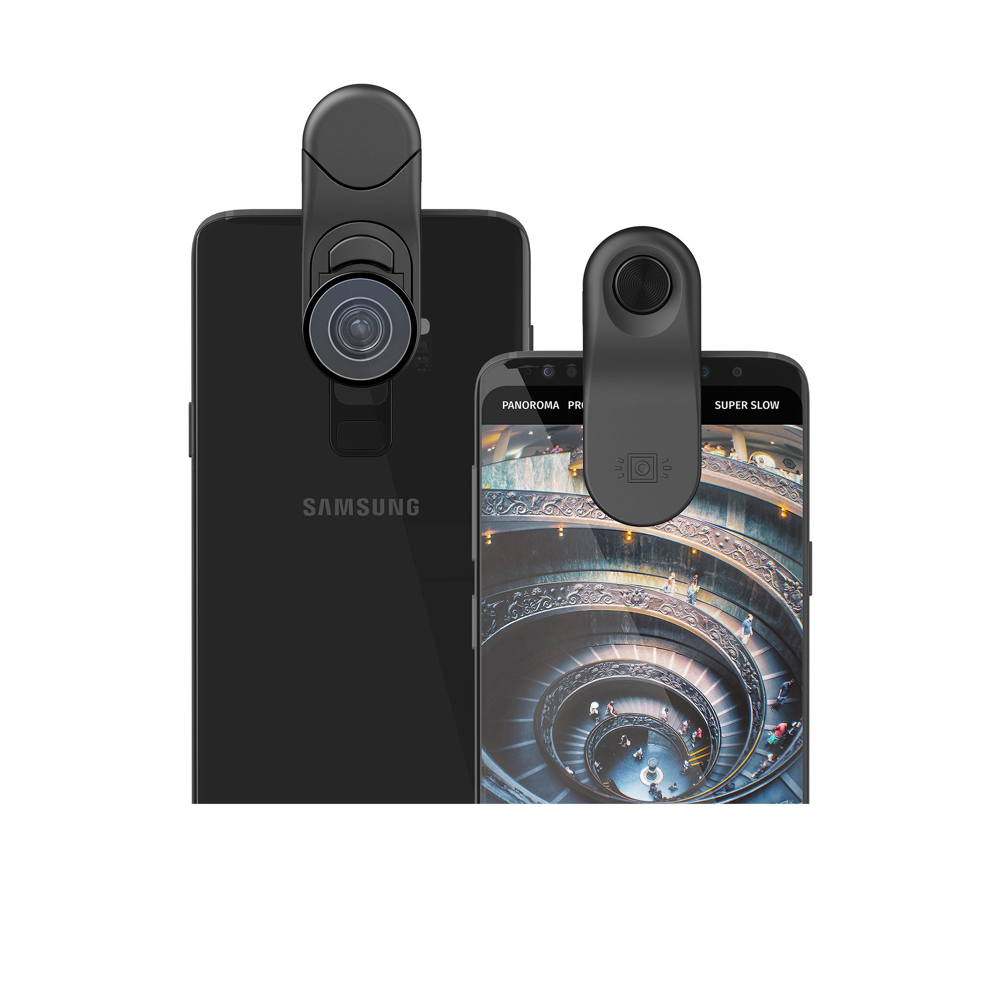 Multi-Device Clip with Fisheye + Macro Essential and Super-Wide Essential