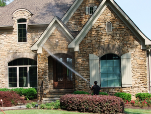 Soft Pressure Washing Residential House
