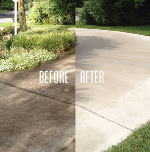 Pressure Washing Driveway - Residential