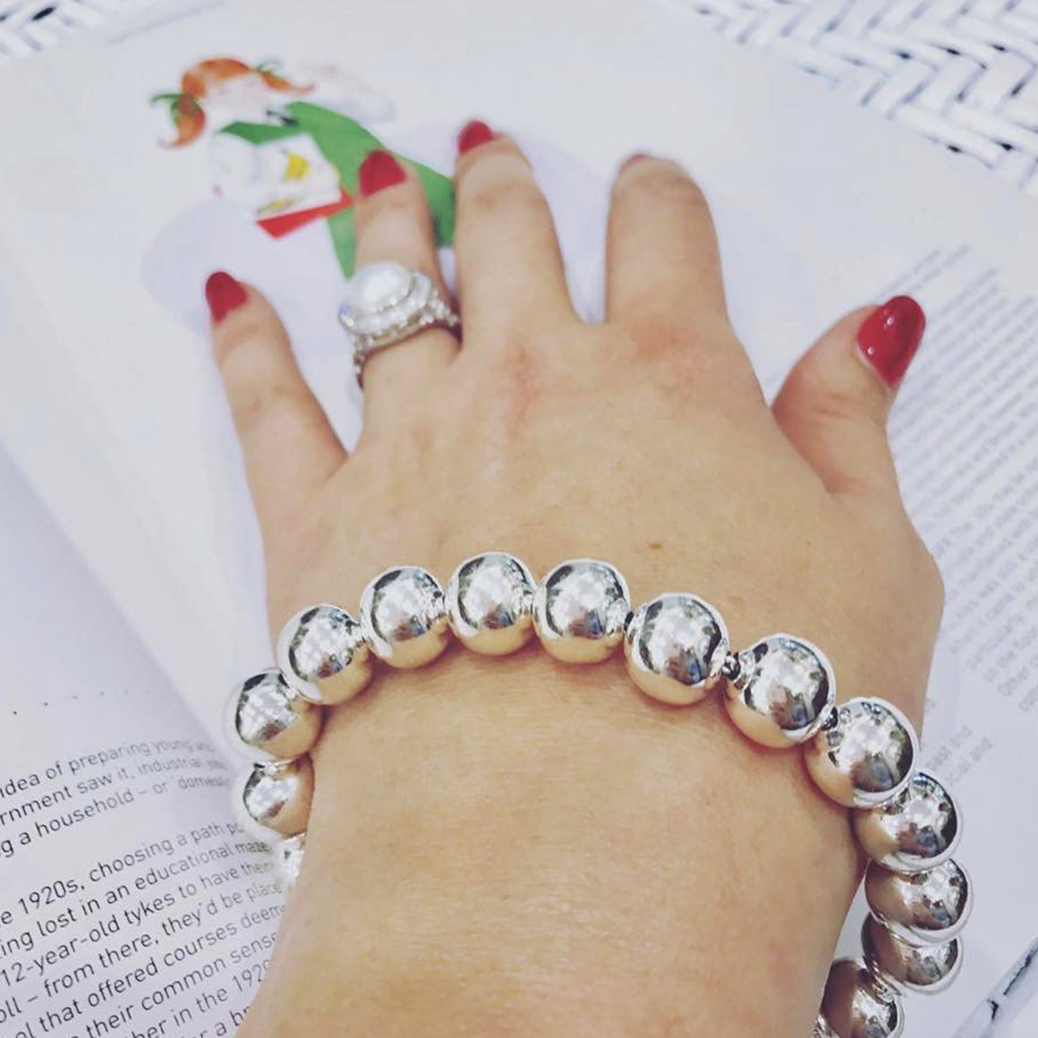 Classic Sterling Silver Ball Bracelet
