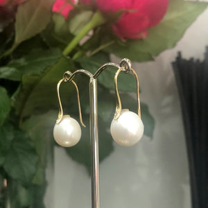 Freshwater Pearls on 9ct yellow gold shepard hooks