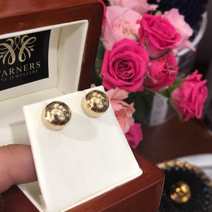 Ball Stud Earrings - Yellow Gold (10mm)