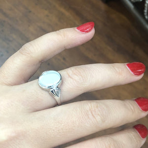 Fancy Signet Ring, in 9ct white gold.
