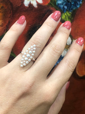 Pearl Ring in 9ct Rose Gold