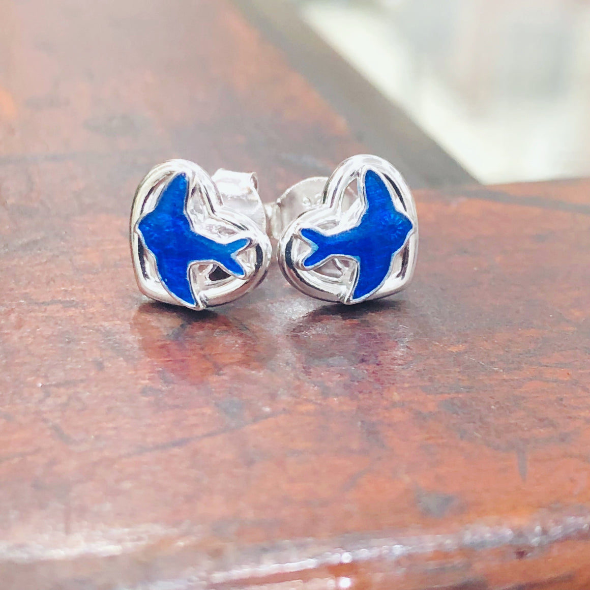 Blue Bird Sterling Silver Studs
