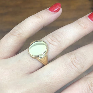 Fancy Signet Ring in 9ct Yellow Gold