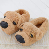 Cute Lazy Dog - Plush Novelty Slippers