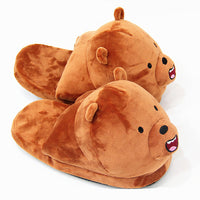 Cute Cartoon Bears - Plush Novelty Slippers