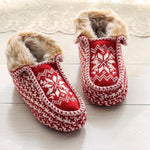 Furry Winter-Style Novelty Slippers