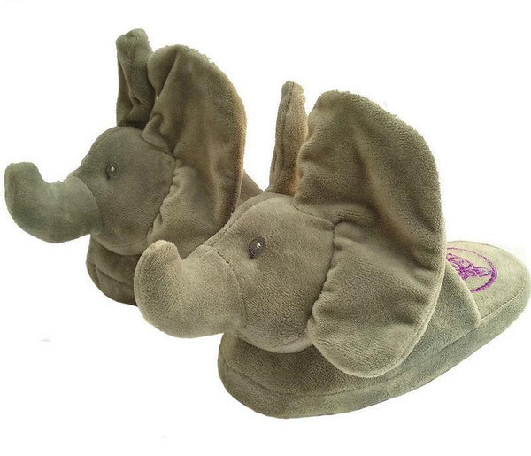 Cute Elephant Slippers- Plush Animal Novelty Slippers
