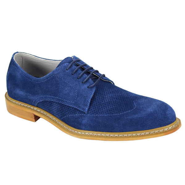 Giovanni Blue Wingtip Shoes