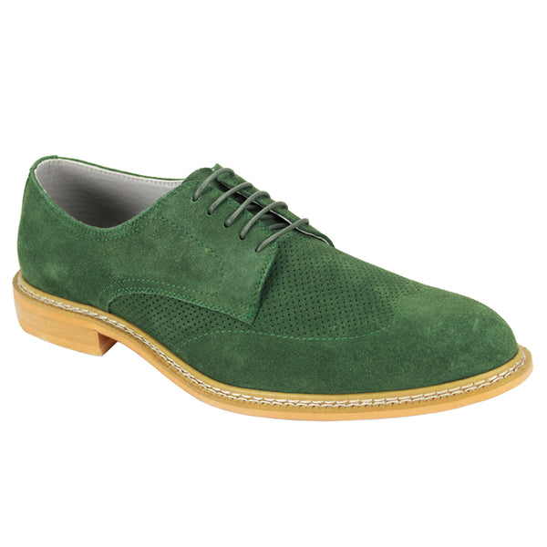 Giovanni Wingtip Green Shoes