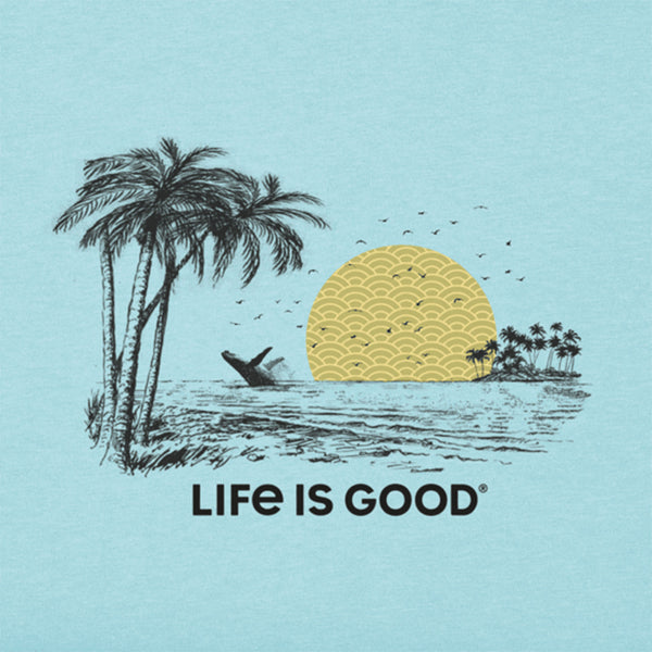 Life is Good Crusher T Shirt Beach Blue