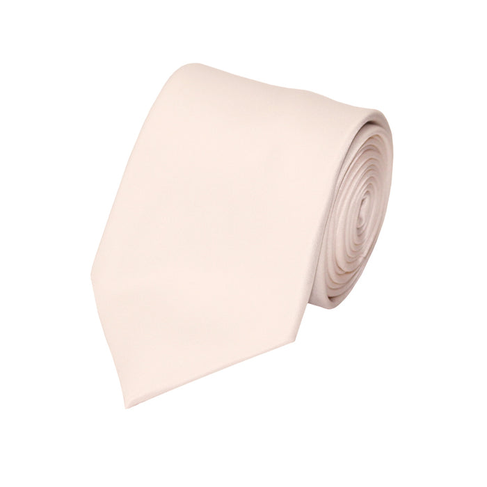 Stacy Adams Solid  Bone Tie and Handkerchief