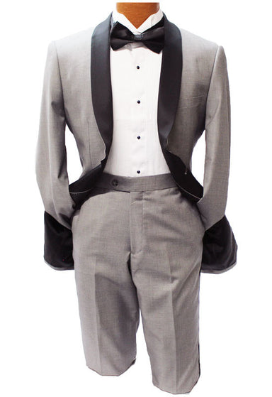 Profile Gray With Black Trim Slim Fit Tuxedo