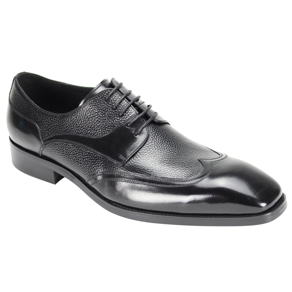 6842 Black Wingtip Dress Shoes