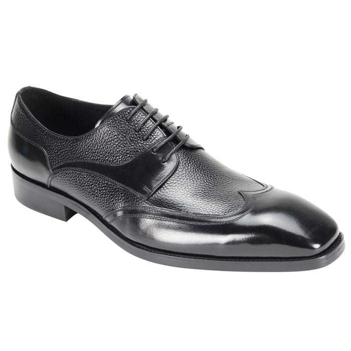 Giovanni 6842 Black Wingtip Dress Shoes