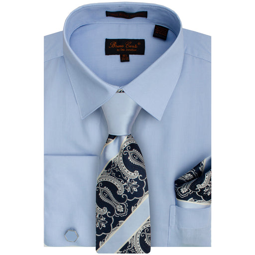 Bruno Conte 1091 Blue Regular Fit Dress Shirt Combo