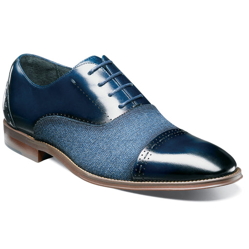 Stacy Adams Barrington Navy Cap Toe Oxford Shoes