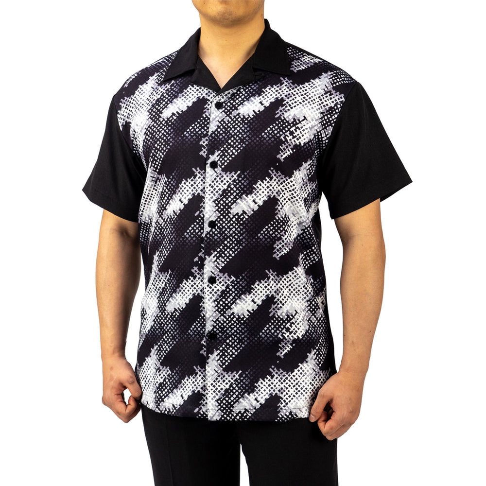 Bruno Conte Pattern Black with White Walking Suit