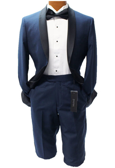Profile Blue with Black Trim Slim Fit Tuxedo