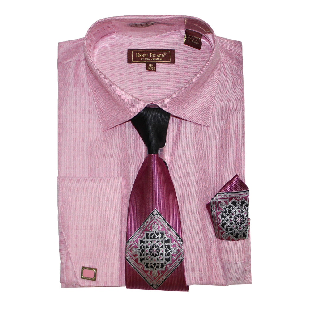 Henri Picard 162 Rose Regular Fit Dress Shirt Combo