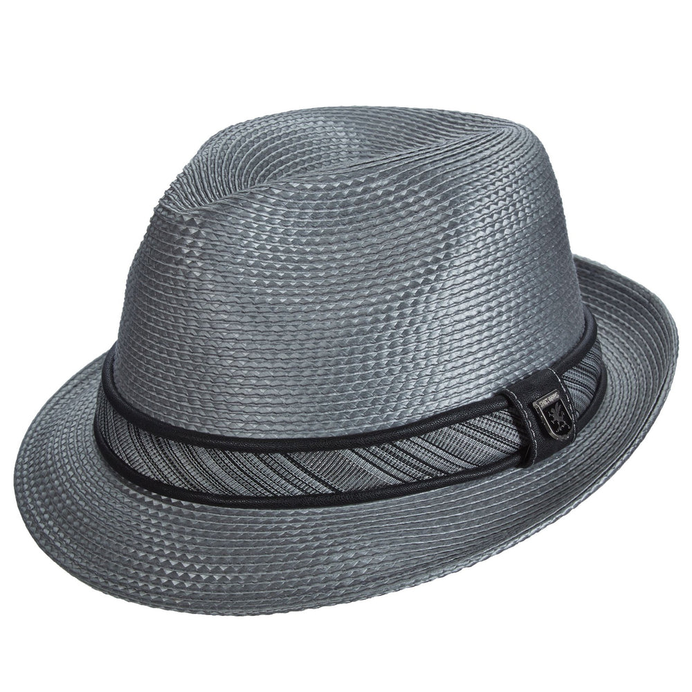 Deanwood Grey Poly Braid Fedora Hat