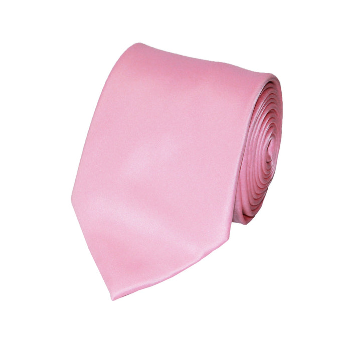 Stacy Adams Solid Pink Tie and Handkerchief