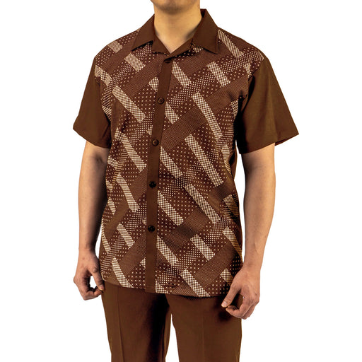 Bruno Conte Pattern Dark Brown Walking Suit