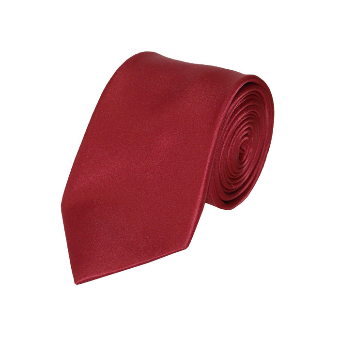Stacy Adams Solid Medium Red Tie and Handkerchief