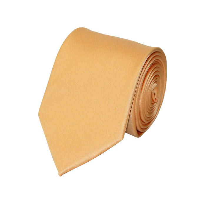 Stacy Adams Solid Champagne Tie and Handkerchief