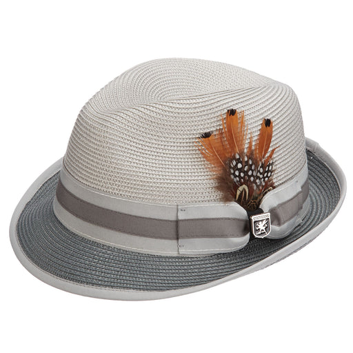 Stacy Adams Gordonville Grey Poly Braid Fedora Hat