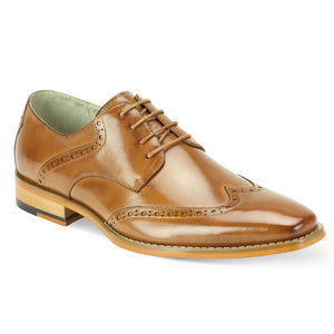 Giovanni Bentley Tan Wingtip Oxford Shoes