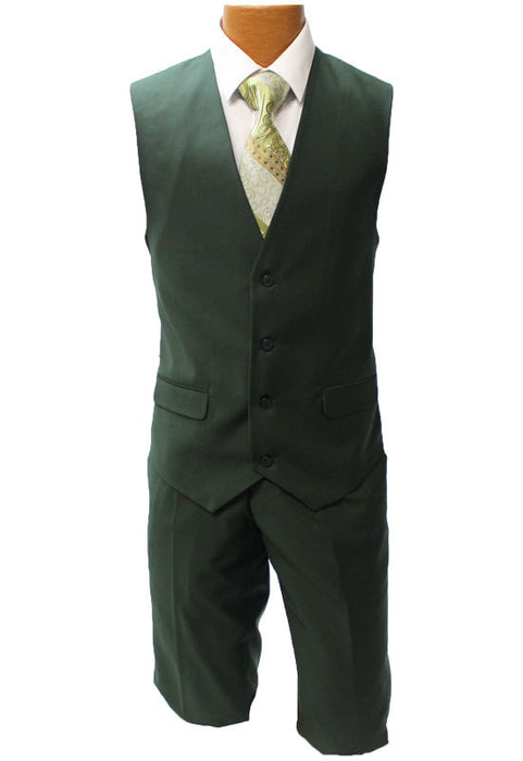Stacy Adams Bud Olive Green Vested Suit
