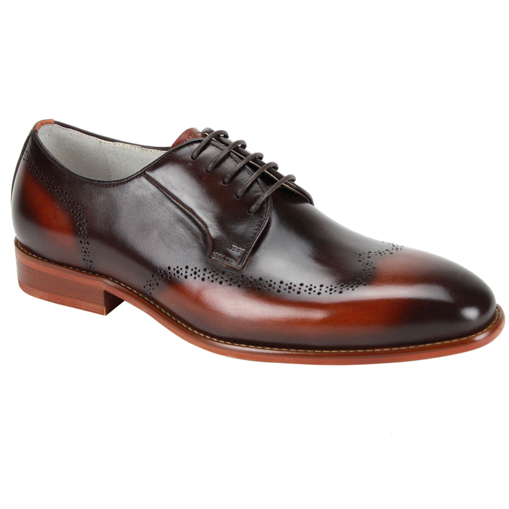Giovanni Ivan Brown Multi Wingtip Brogue Dress Shoe