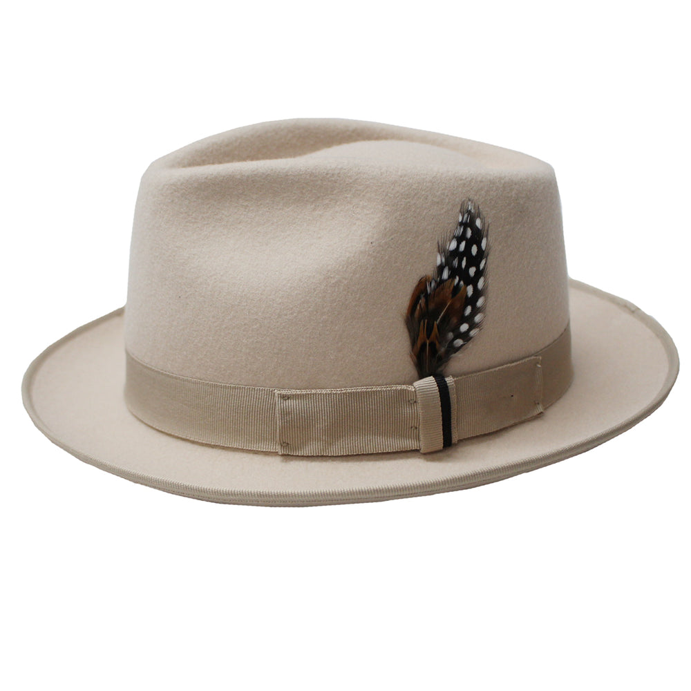 Belly Wool Felt Tear Drop Fedora Hat